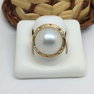 Jewelry - 14K Yellow Gold Pearl Ring